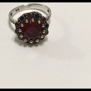 Jewelry - Silver 925 Vintage Ruby Ring